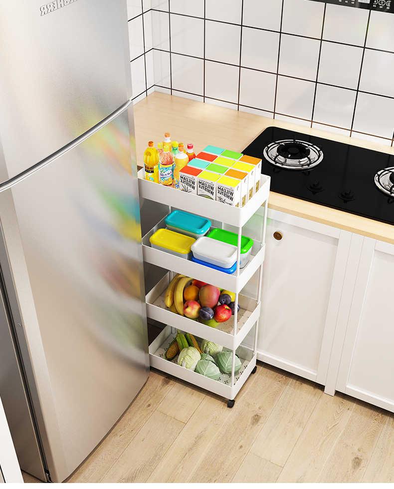 ชั้นวางของ,Multi-ชั้นรถเข็น,ครัวเรือนรอก,Movable ตะกร้าผักและผลไม้ตะกร้า