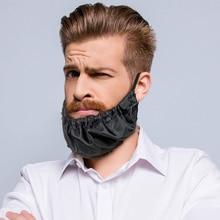 Men Beard Bandanas Bedtime Bib Adjustable Beard Covers Comfy Facial Hair Apron Oil-proof