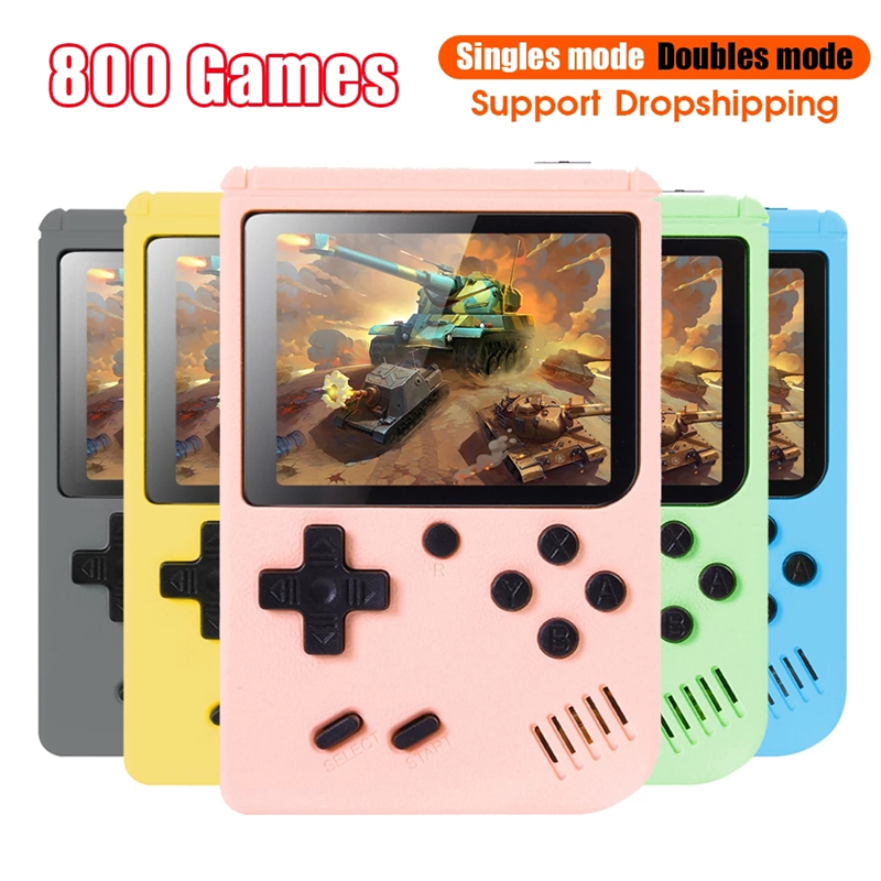 800 in 1 Game Pocket Game Console 3 inch Mini Handheld Game Player 8 Bit Retro Consoles LCD Video Gaming Console For Kids Gifts