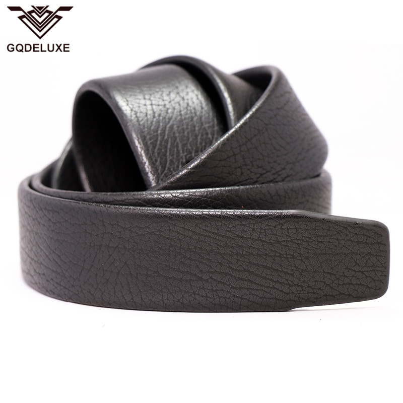 New Men/'s Black PU Leather Automatic Strap Belt Without Buckle Waist Strap