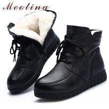 Женские ботильоны из натуральной кожи meotina зимние ботинки