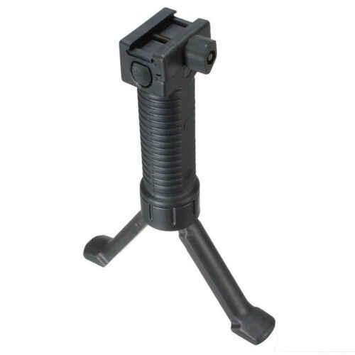 Qd Bipode Rifle Airsoft Intrekbare Bipod Adapter Picatinny Rail Voor De Jacht Sniper Rifle Guns Paintball Softair Schieten
