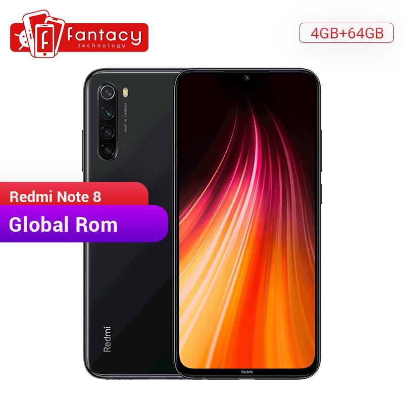 Global Rom Xiaomi Redmi Note 8 4GB 64GB 48MP Quad caméra Smartphone Snapdragon 665 Octa Core 6.3