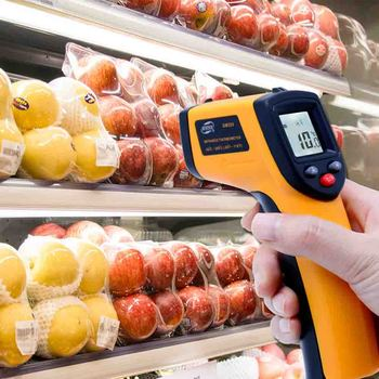 Non-Contact LCD IR Laser Infrared Digital Temperature Thermometer Gun Point GM320-50~330 Temperature Gun for Medical Fever Test цена 2017