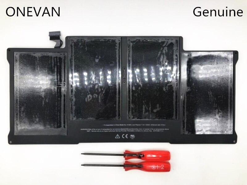 ONEVAN 7.3V 50wh ordinateur portable A1405 batterie pour Apple Macbook Air 13