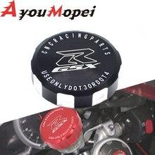 With Logo gsxr CNC Front Brake Fluid Cap Master Cylinder Reservoir Cover For Suzuki Gsxr 600 GSX-R 750 GSXR600 GSX R 750 1000