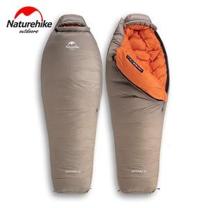 Image 1 - Naturehike 2019 20D Winter Thicken Mummy Goose Down Sleeping Bag Super Keep Warm 750FP Comfort Restriction Temperature  15℃  42℃