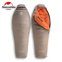 Naturehike 2019 20D Winter Verdicken Mummy Gans Unten Schlafsack Super Warm Halten 750FP Komfort Einschränkung Temperatur 15 ℃  42 ℃