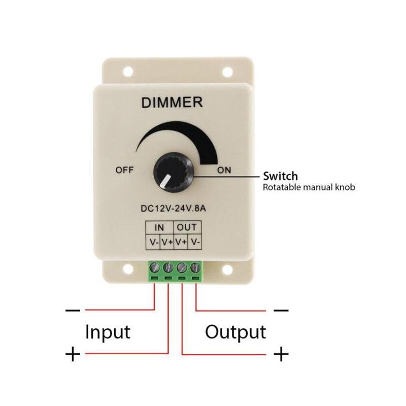 controle de energia dc 12v 24v 8a