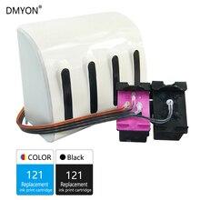 DMYON 121 СНПЧ объемные чернила, совместимые с hp 121 для Deskjet D2563 F2423 F2483 F2493 F4213 F4275 F4283 F4583 картриджи для принтера