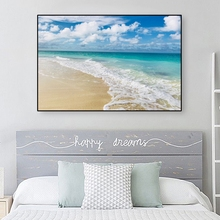 Scandinavian Beach Landscape Seascape Canvas Painting Modern Sea Scenery Poster And Print Wall Art Decor Picture Room Decoration
