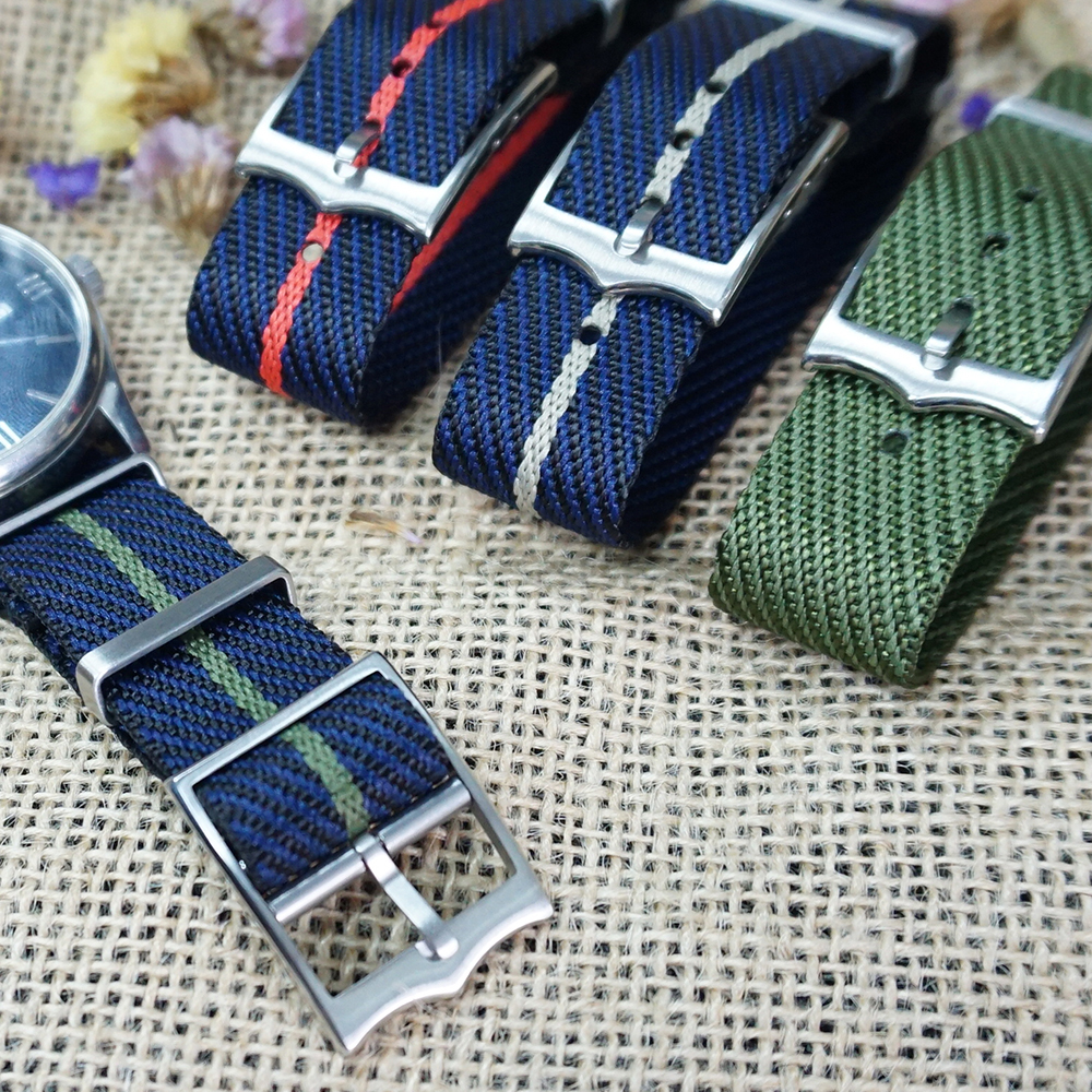 New Material Special Nylon For Tudor Black Bay Strap 20mm 22mm For French Troops Parachute Watchband Strap For Nylon Nato Strap