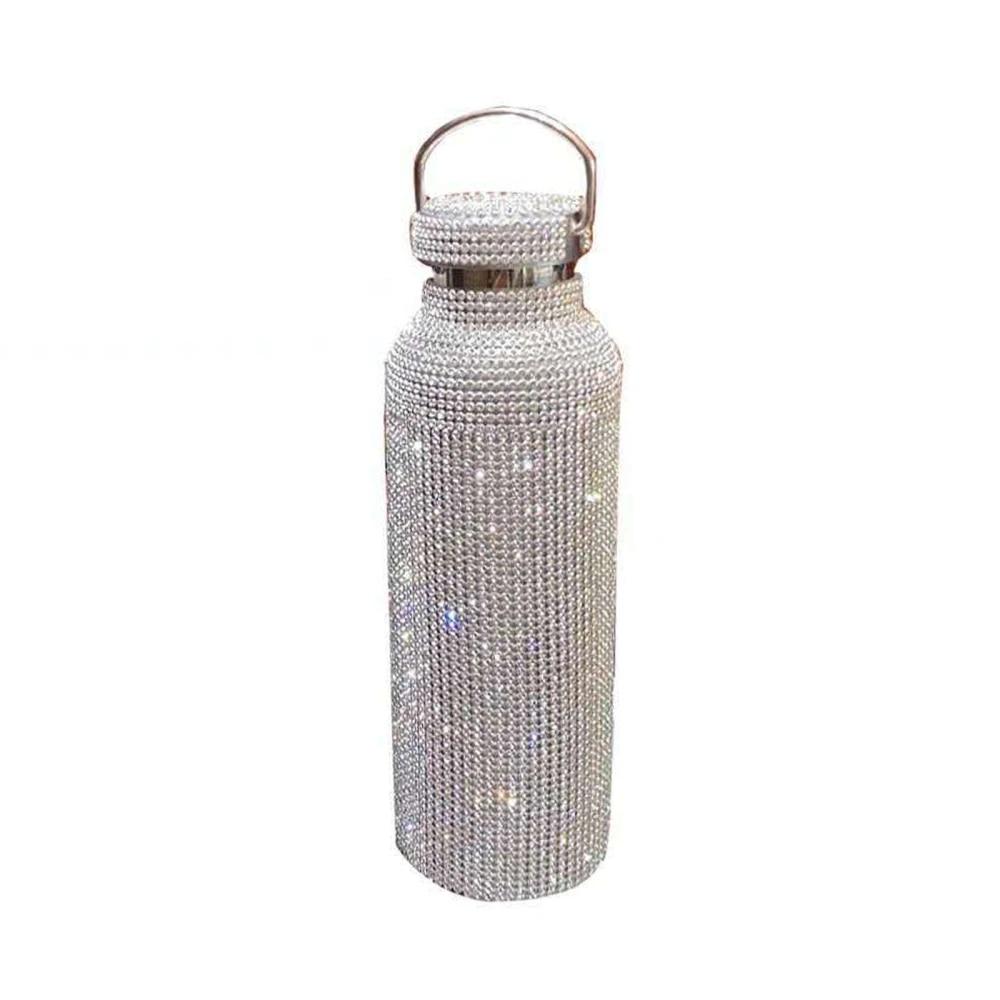 500ml Diamond Thermos Bottle Water Bottle Stainless Steel Smart Vacuum Flask NEW