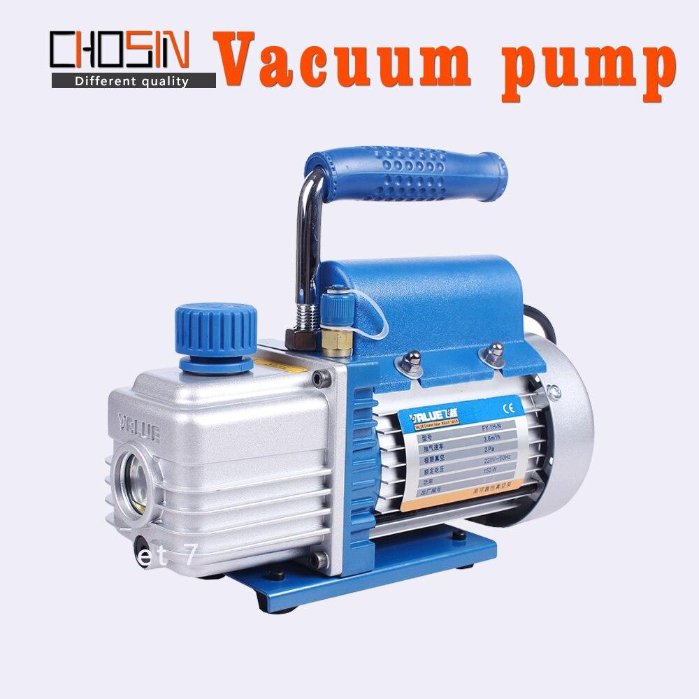 220V Miniature pompe à vide climatiseur réfrigérateur réfrigération entretien rotatif palette pompe à vide