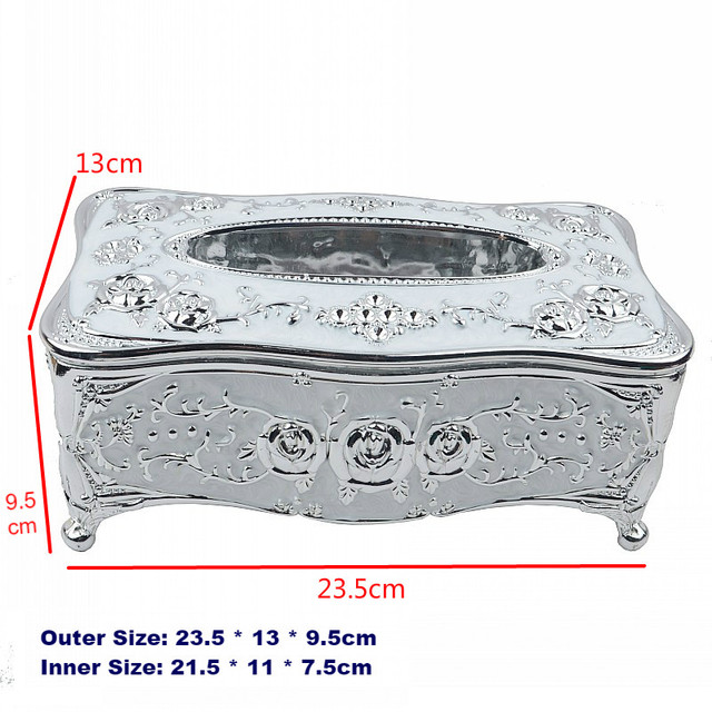 Universal Acrylic Tissue Box Luxury European Paper Rack Office Table Accessories Home Office KTV Hotel Car Facial Case Holder