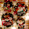 Christmas Garland Santa Claus Elk Snowman Wreath Wall Hanging Door Decorations Merry Christmas Decor for Home 2020 Happy New Yea