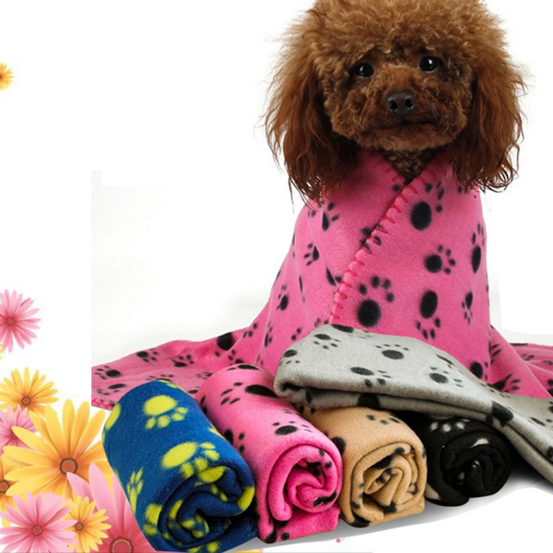 Soft Fleece Pet Mat Dog Bed Winter Warm Cat Dog Blanket Cute Print Puppy Sleeping Cover Towel Cushion for Small Dogs Supplies