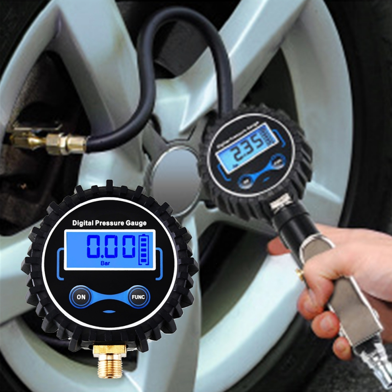 LCD Digital Tire Pressure Gauge Car Auto Motorcycle Tyre Air PSI Meter 1/8