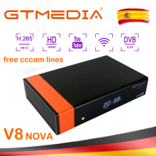 GTMedia V8 NOVA Satellite Receiver Bult-in WiFi +1 Year Europe Cccam Cline Full HD DVB-S2/S Freesat V8 NOVA Receptor Ship Spain цена и фото