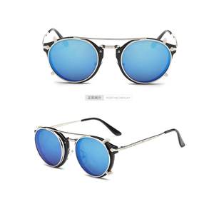 Image 3 - Fashion Round Glasses Clear Frame Women Spectacle Myopia Men EyeGlasses Optical Frames With Vintage Clip On Polarized Sunglasses