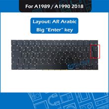 New Laptop A1989 A1990 keyboard AR Arabic Layout For Macbook Pro Retina 13″ 15″ A1989 A1990 Arab Keyboard Big Enter key 2018