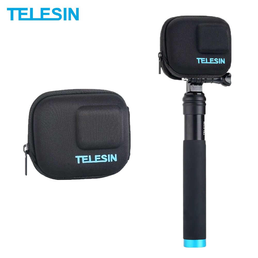 Telesin mini saco da câmera de ação caso de transporte de proteção para gopro hero 5 herói 6 herói (2018) herói 7 câmera acessórios