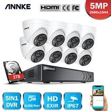 ANNKE 5MP לייט אבטחת מצלמה מערכת H.265 + DVR מעקב עם 8pcs 5MP PIR חיצוני מצלמות IP67 עמיד אבטחה ערכת