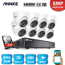 ANNKE 5MP Lite Security Camera System H.265+ DVR Surveillance with 8pcs 5MP PIR Outdoor Cameras IP67 Weatherproof Security Kit