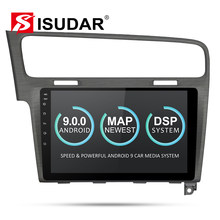 Isudar Car Multimedia Player 1 Din DVD Automotivo Android 9 For VW/Volkswagen/Golf 7 Radio GPS Quad Core RAM 2GB ROM 16GB DVR FM(China)