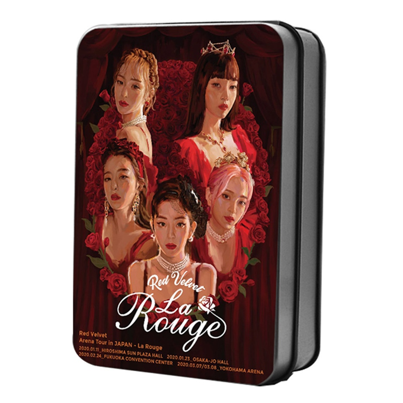 RED VELVET LOMO Cards Set 40pcs/set Paper Photo Card KPOP Fans Collection Tin Box Packing