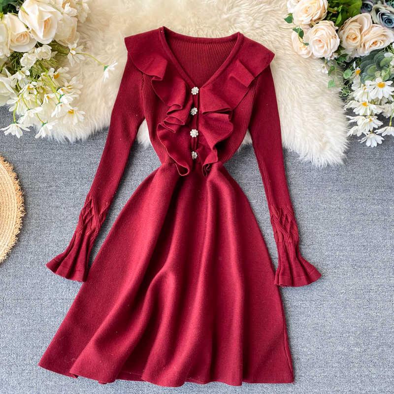 Wiosna lato sukienka kobiety ubrania 2020 koreański Vintage damskie sukienki czarny Bodycon Sexy sukienka V-neck Vestidos Ropa Mujer ZT5407
