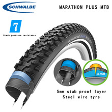Mountain-Bike-Tire Schwalbe 26inch MTB Stab-Resistant Marathon-Plus