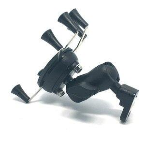 Image 5 - Jadkinsta פלסטיק אופנוע כידון קלאמפ מחזיק הר עם 25mm כדור עבור Smartphone עבור Gopro מצלמות X אחיזה