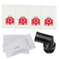 Staub Taschen Filter Blätter mit Pinsel Werkzeug für MIELE FJM C1 C2 S6220 S6000 Vakuum-in Staubsauger-Teile aus Haushaltsgeräte bei