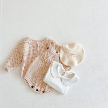 Baby Girls Boys Clothes Winter Knitted Baby Clothes Newborn Toddler Girl Romper Jumpsuit Infant Baby Cardigan Sweater Overalls christmas baby clothes autumn winter knitted baby deer romper newborn romper infant jumpsuit toddler girl romper