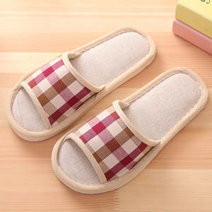 Men Shoes Home Slippers Women Couples Autumn Casual Fashion Indoor Gingham Floor Leisure