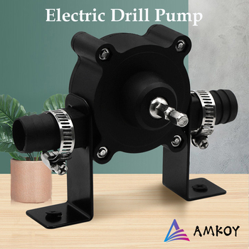 AMKOY Electric Drill Pump Self Priming Transfer Pumps Oil Fluid Water Portable Round Shank Heavy Duty Self-Priming Hand