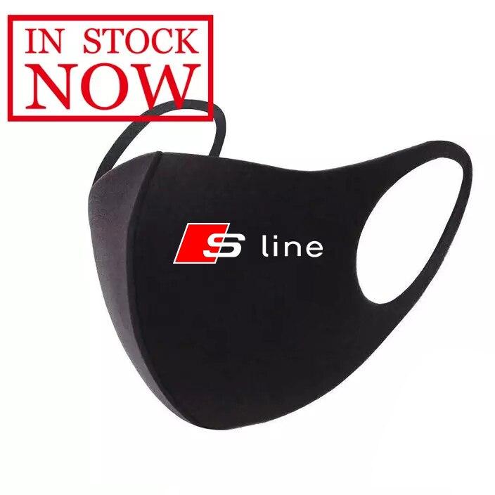S-line маска для лица с логотипом Sline, Спортивная моющаяся маска для лица с ушной петлей, дыхательная маска для езды на велосипеде, противопылев...