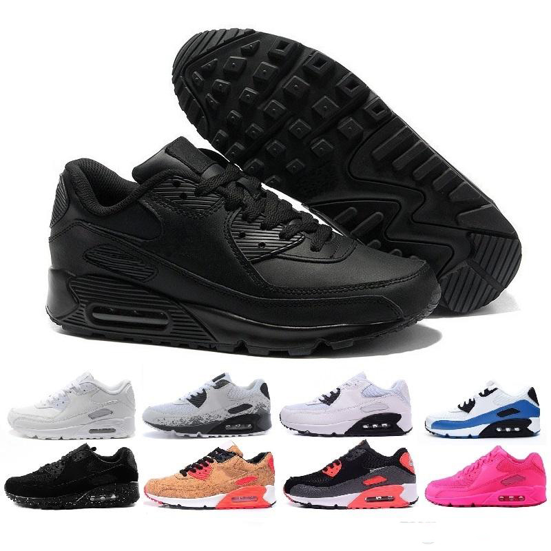Fashion Men Sneakers Shoes Classic 90 Men And Women Running Shoes Sports Trainer Cushion Surface Breathable Sports Shoes 45