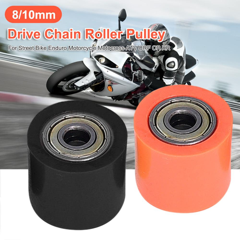 Motorcycle Dirtbike ATV Chain Pulley Roller Slider Tensioner Wheel Guide 8mm Hot