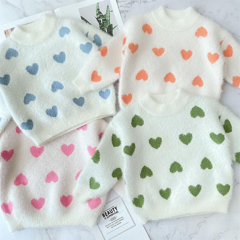 Новый свитер для маленьких девочек на осень и зиму детская одежда