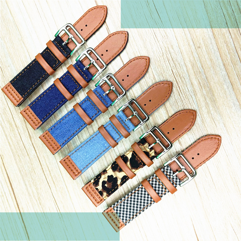 Wholesale 50pcs/lot 22mm genuine leather Watch band watch straps new style 6 colors available -2020011401