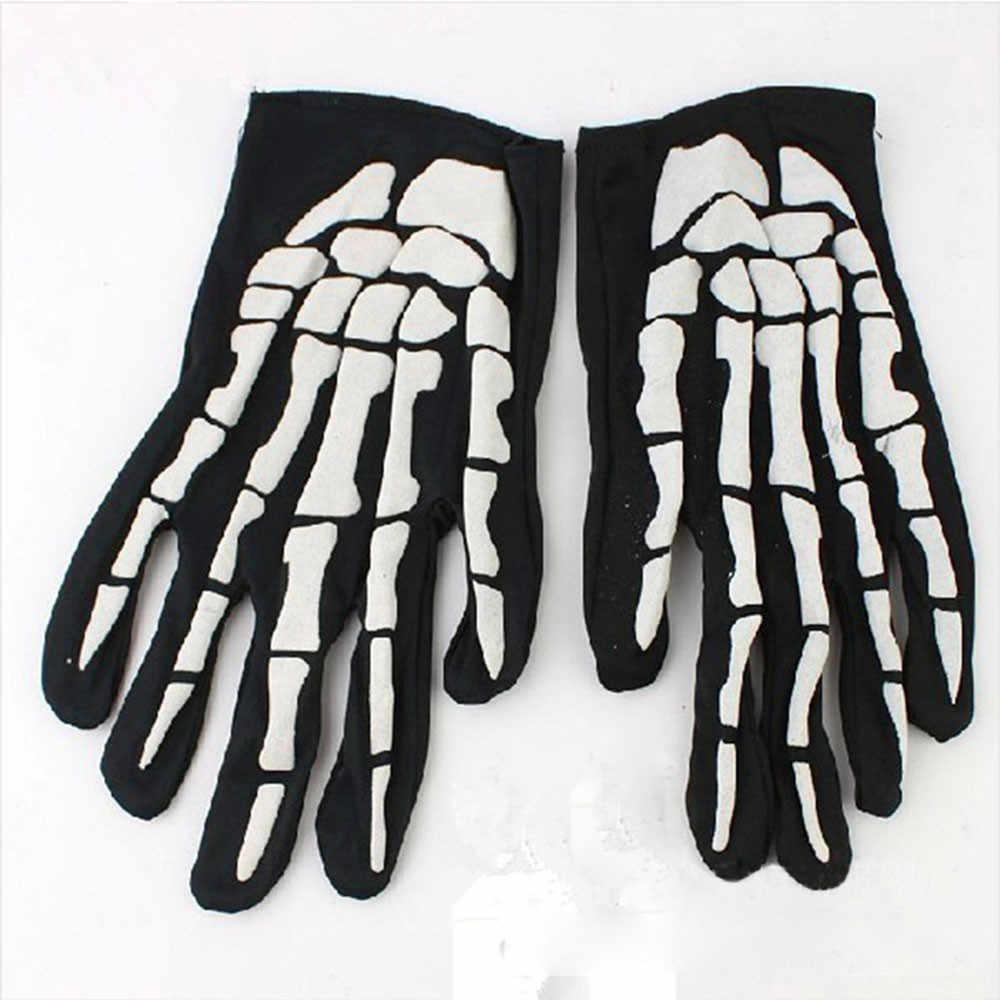 Halloween Tengkorak Cakar Tulang Kerangka Goth Penuh Sarung Tangan Wanita Pria Musim Dingin Mengemudi Lucu Sarung Tangan untuk Pesta Halloween Dekorasi