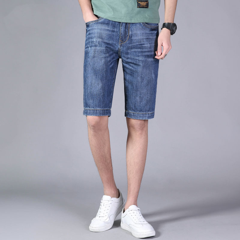Jeep/Jeep Summer MEN'S Jeans Shorts Bags Shorts Straight-Cut Medium Waist Loose And Plus-sized Casual Shorts