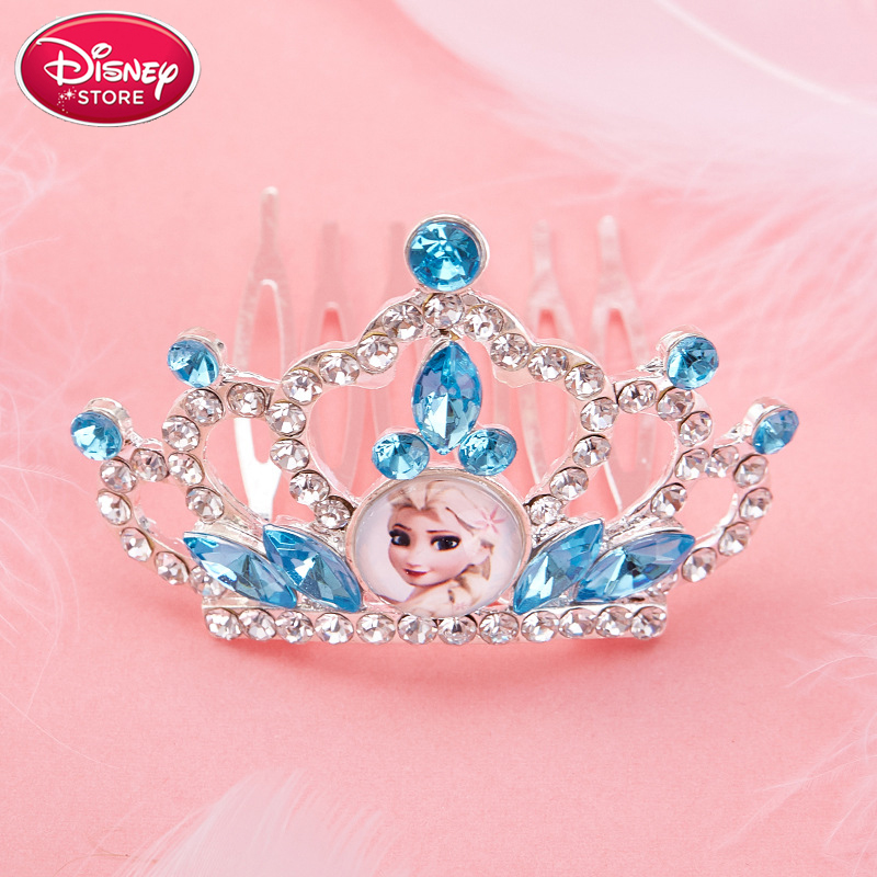 Disney Princess Crown Sofia Ariel Anna Elsa Crown Heart Jewel Disney Toys Kids Makeup Pretend Play Makeup Toys