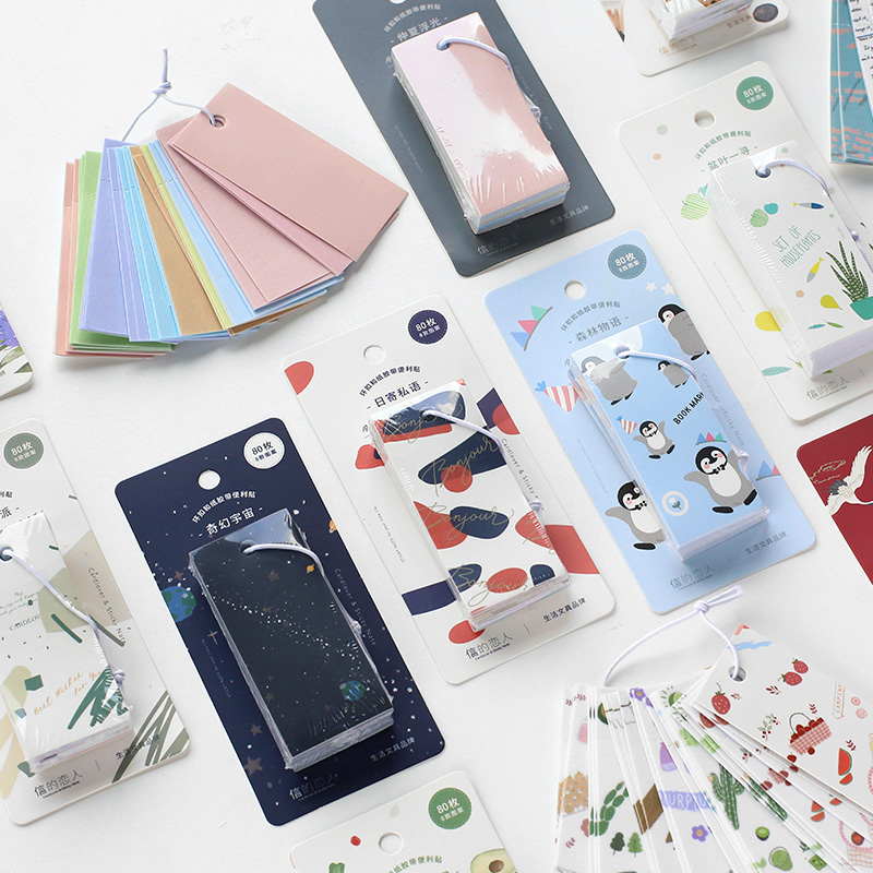 Letter Lover Button And Paper Note Paste Four Seasons Colour Series Handbook DIY Release Sticker 80 Sheets