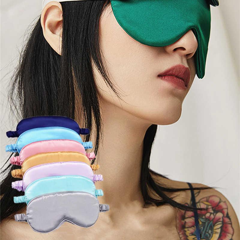 1 adet yeni saf ipek uyku dinlenme göz maskesi yastıklı gölge kapak seyahat Relax yardım Blindfolds amazon'da göz bakımı aracı