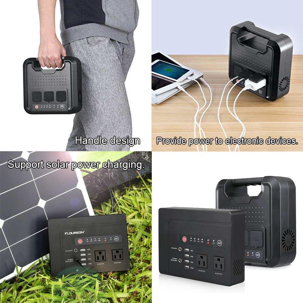 200 W/300 W Portable Solar Generator Voeding met Inverter USB LCD Display Energie Opslag Generatie voor Outdoor thuis Auto - 6