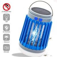 Lámpara de caza antiinsectos alimentada por energía Solar, trampa eléctrica LED para insectos, recargable por USB