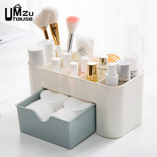 Boîtes de rangement cosmétiques organisateurs de maquillage maison salle de bain chambre toilette Organization salle de bain mural tiroir diviseur